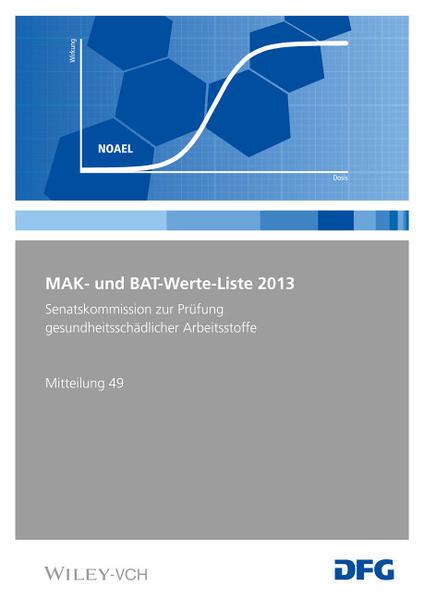 MAK- und BAT-Werte-Liste / MAK- und BAT-Werte-Liste 2013 - Coverbild