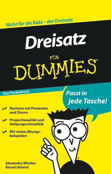 Dreisatz für Dummies Das Pocketbuch - Coverbild
