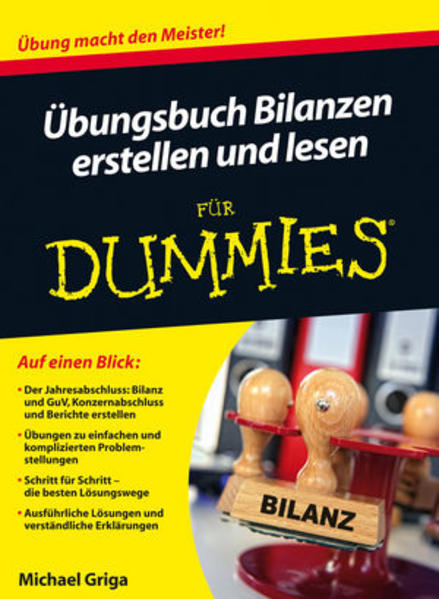 Übungsbuch Bilanzen erstellen und lesen für Dummies - Coverbild