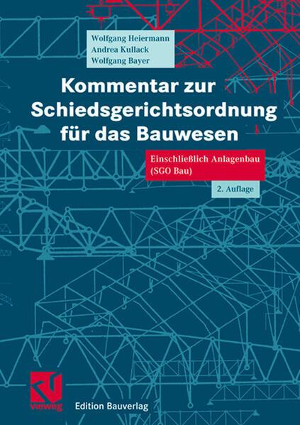 Kommentar zur Schiedsgerichtsordnung für das Bauwesen - Coverbild