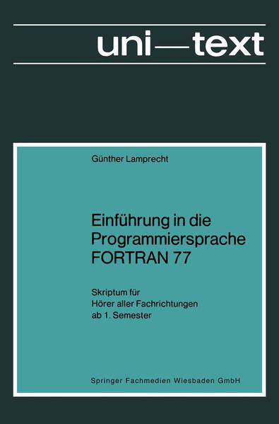 Einführung in die Programmiersprache FORTRAN 77 - Coverbild