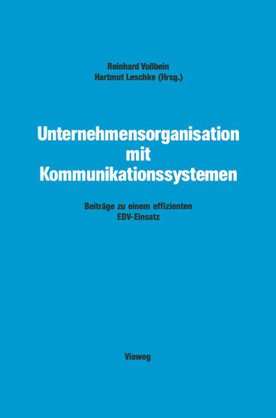 Unternehmensorganisation mit Kommunikationssystemen - Coverbild