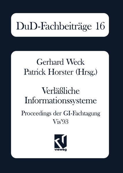 Verläßliche Informationssysteme - Coverbild
