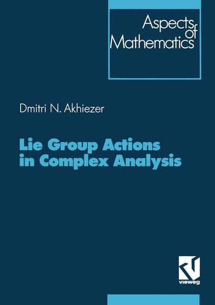 Lie Group Actions in Complex Analysis - Coverbild