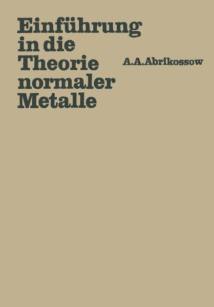 Einführung in die Theorie normaler Metalle - Coverbild