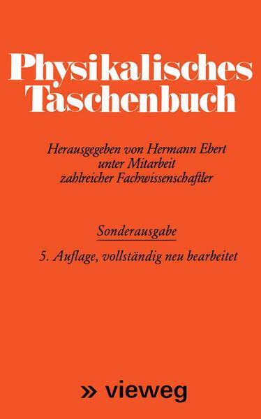 Physikalisches Taschenbuch - Coverbild