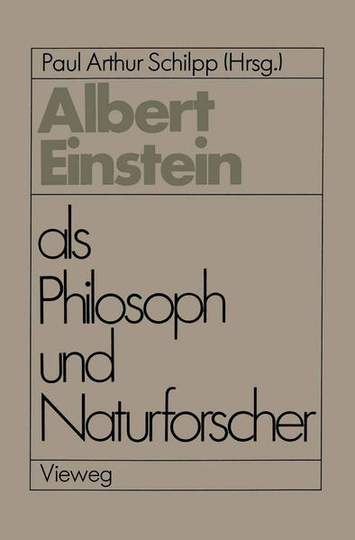 Albert Einstein als Philosoph und Naturforscher - Coverbild