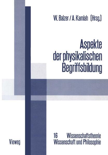 Aspekte der physikalischen Begriffsbildung - Coverbild