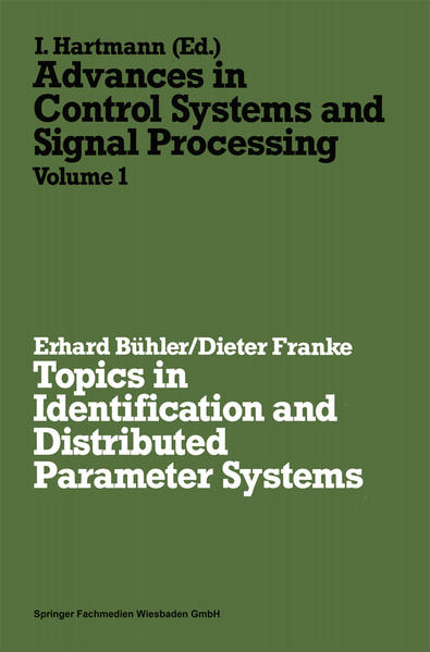Topics in Identification and Distributed Parameter Systems - Coverbild