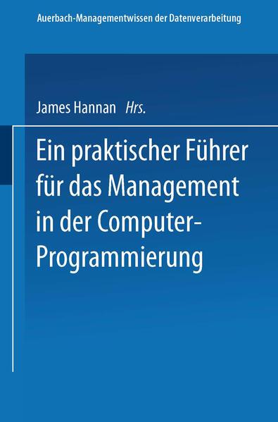 Ein praktischer Führer für das Management in der Computer-Programmierung - Coverbild