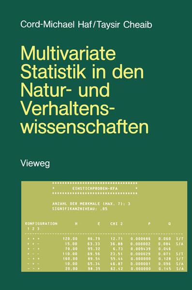 Multivariate Statistik in den Natur- und Verhaltenswissenschaften - Coverbild