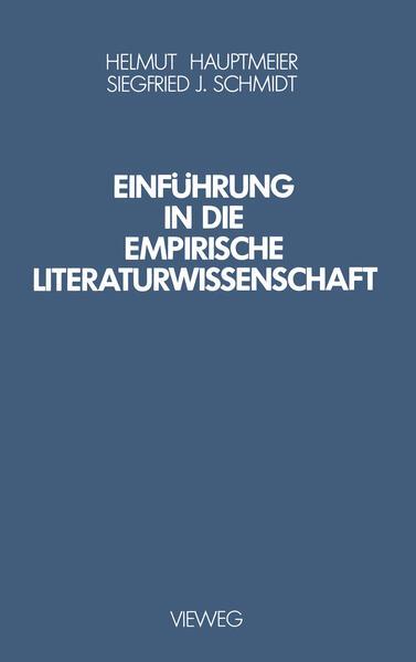 Einführung in die Empirische Literaturwissenschaft - Coverbild