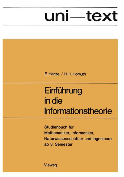 Einführung in die Informationstheorie - Coverbild