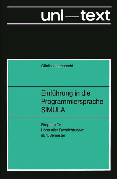 Einführung in die Programmiersprache SIMULA - Coverbild