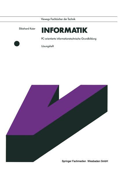 Informatik. PC-orientierte informationstechnische Grundbildung - Coverbild
