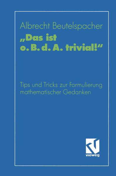 """""""Das ist o. B. d. A. trivial!"""" - Coverbild"""
