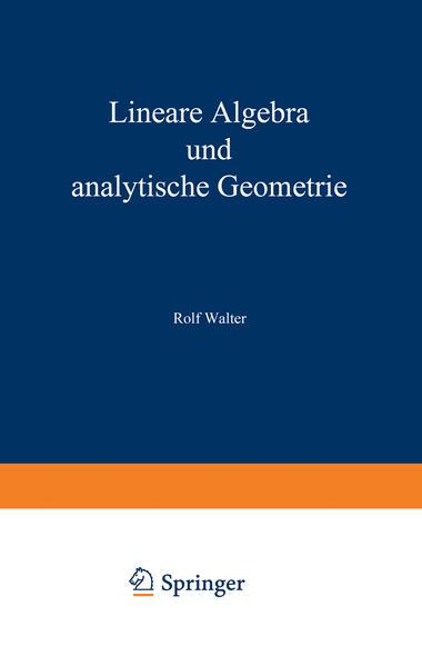 Lineare Algebra und analytische Geometrie - Coverbild