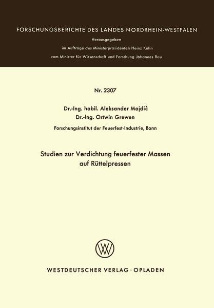 Studien zur Verdichtung feuerfester Massen auf Rüttelpressen - Coverbild