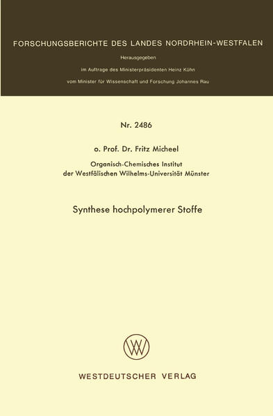 Synthese hochpolymerer Stoffe - Coverbild