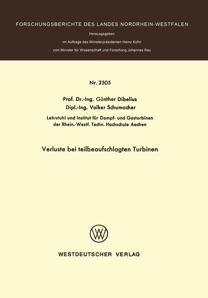 Verluste bei teilbeaufschlagten Turbinen - Coverbild