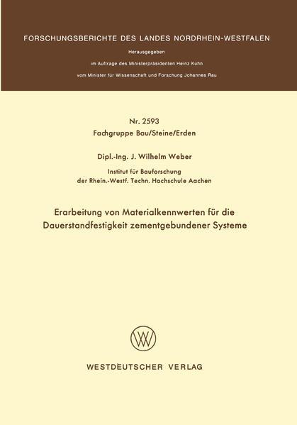 Erarbeitung von Materialkennwerten für die Dauerstandfestigkeit zementgebundener Systeme - Coverbild
