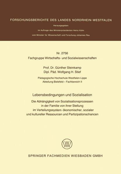Lebensbedingungen und Sozialisation - Coverbild