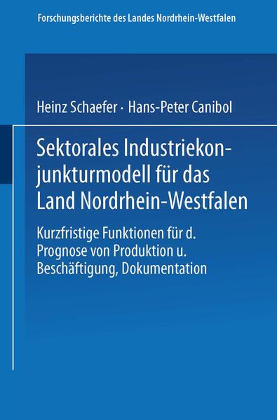 Sektorales Industriekonjunkturmodell für das Land Nordrhein-Westfalen - Coverbild