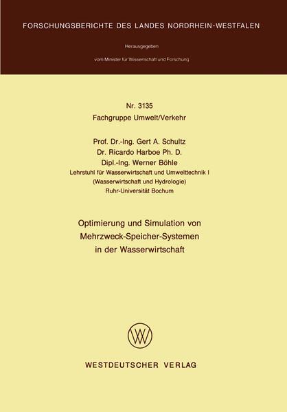 Optimierung und Simulation von Mehrzweck-Speicher-Systemen in der Wasserwirtschaft - Coverbild