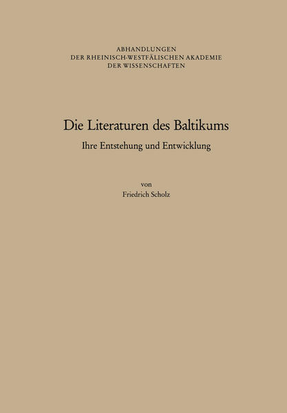 Die Literaturen des Baltikums - Coverbild