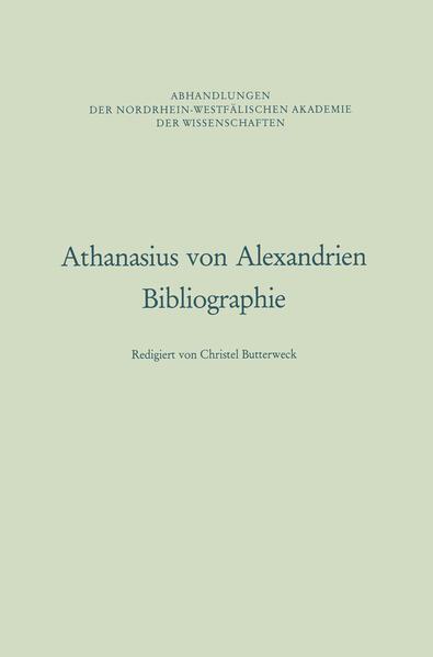 Athanasius von Alexandrien - Coverbild