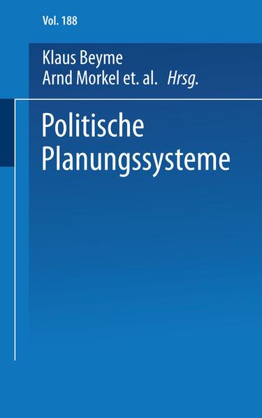 Politische Planungssysteme - Coverbild