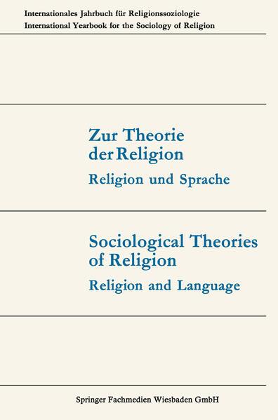 Zur Theorie der Religion / Sociological Theories of Religion - Coverbild