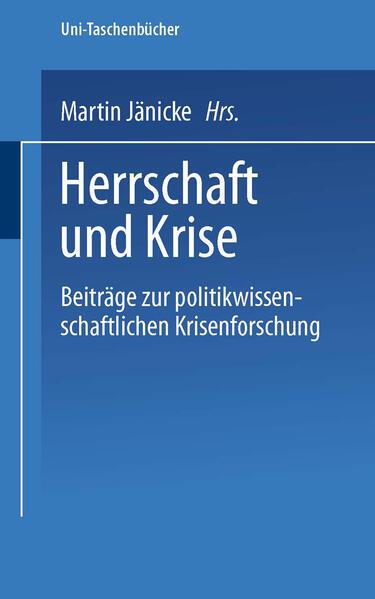 Herrschaft und Krise - Coverbild