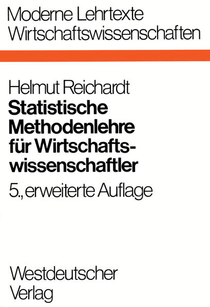 Statistische Methodenlehre für Wirtschaftswissenschaftler - Coverbild