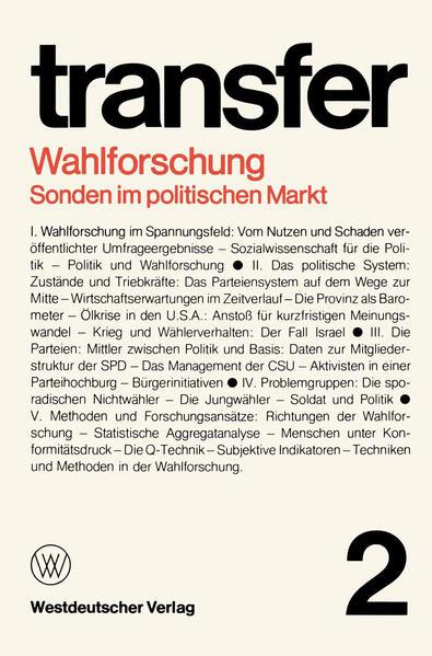 Wahlforschung: Sonden im politischen Markt - Coverbild