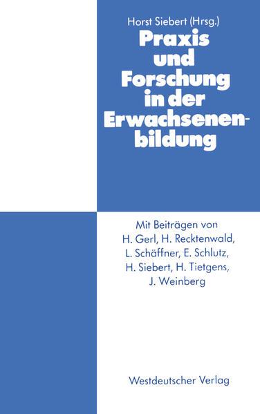 Praxis und Forschung in der Erwachsenenbildung - Coverbild
