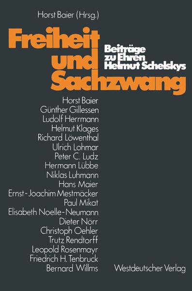 Freiheit und Sachzwang - Coverbild