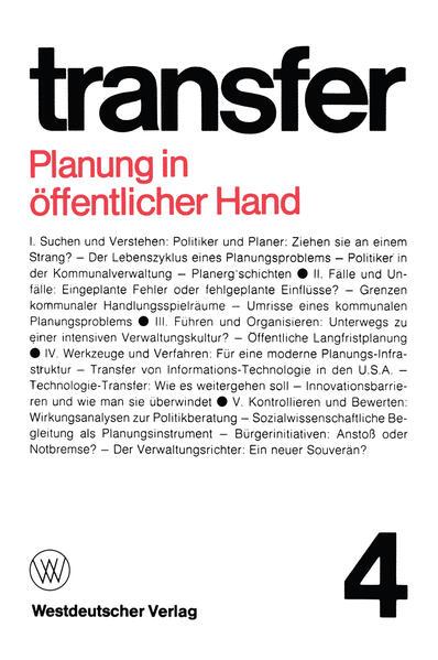 Planung in öffentlicher Hand - Coverbild