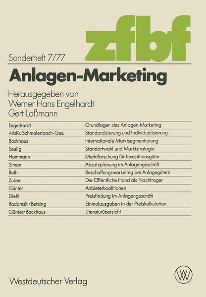 Anlagen-Marketing - Coverbild