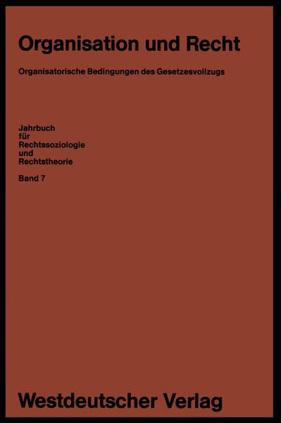 Organisation und Recht - Coverbild