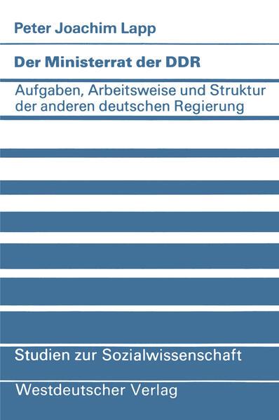 Der Ministerrat der DDR - Coverbild