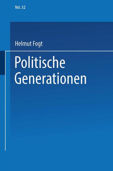 Politische Generationen - Coverbild