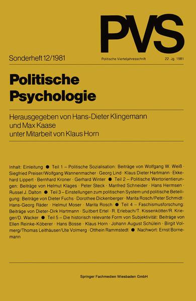Politische Psychologie - Coverbild