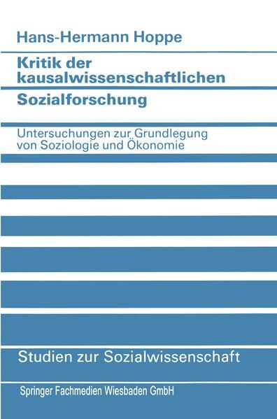 Kritik der kausalwissenschaftlichen Sozialforschung - Coverbild