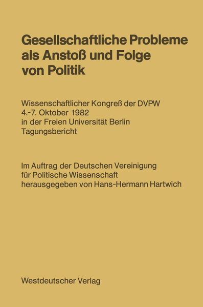 Gesellschaftliche Probleme als Anstoß und Folge von Politik - Coverbild