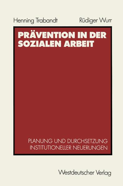 Prävention in der sozialen Arbeit - Coverbild