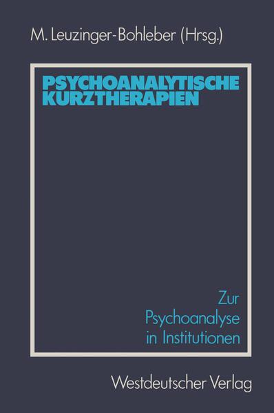 Psychoanalytische Kurztherapien - Coverbild