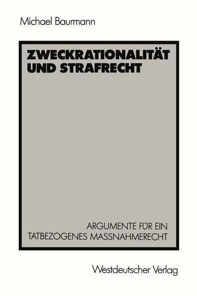 Zweckrationalität und Strafrecht - Coverbild