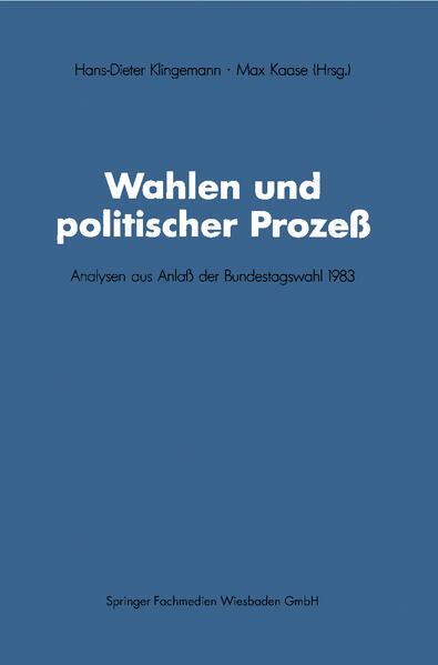 Wahlen und politischer Prozeß - Coverbild