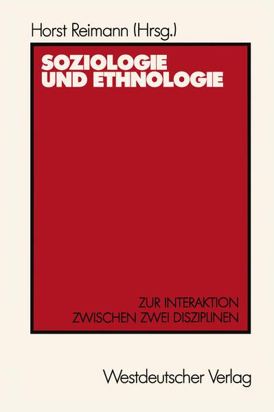 Soziologie und Ethnologie - Coverbild
